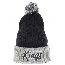 Long black cap with pompom Los Angeles kings Vintage
