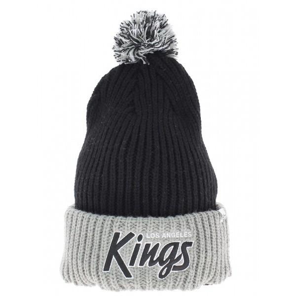 Bonnet noir long à pompon Los Angeles kings Vintage