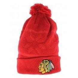 Bonnet long à pompon Chicago Blackhawks