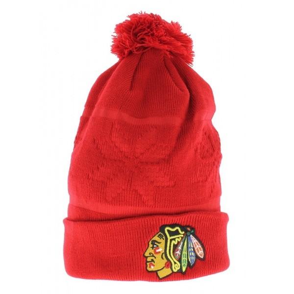 Chicago Blackhawks Pompom Long Cap