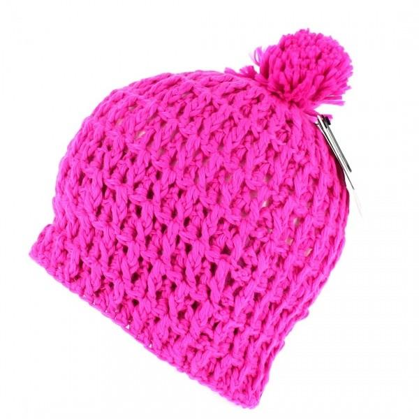 Bonnet The Waffle Neon Pink Coal