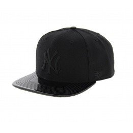 NY cap black imitation leather - 47 Brand