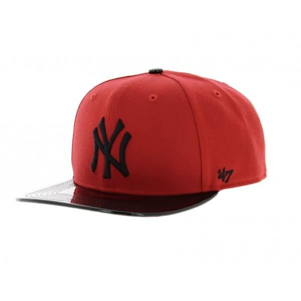 Casquette NY rouge et noire - 47 Brand