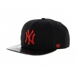 Red embroidered NY cap - 47 Brand