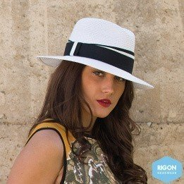 Chapeau Traveller Anja Monochrome Noir & Blanc