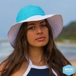Endless Summer Turquoise Polyester- Rigon Headwear Endless Summer Capeline