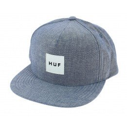 Light Blue Cotton Chambray Snapback Cap - Huf