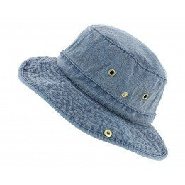 Bob Omaru Blue Washed Cotton - Broner Hats