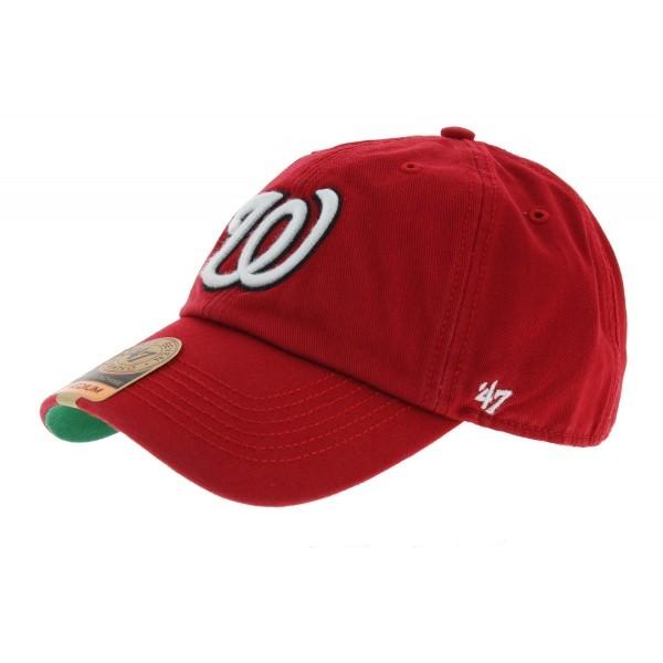 Fited Washington Red Baseball Cap - 47 Brand