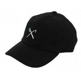 Baseball cap Strapback Cisor Black Wool - King Apparel