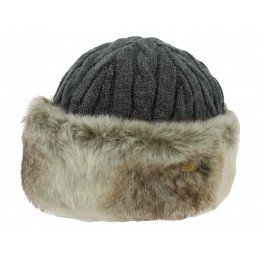 Cable Faux Faux Fur Cap Grey - Barts