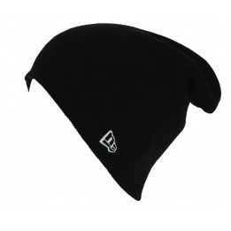 Essential Knit Acrylic Black Mixed Long Cap - New Era