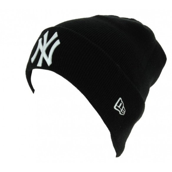 Essential Cuff Acrylic Black Mixed Beanie - New Era