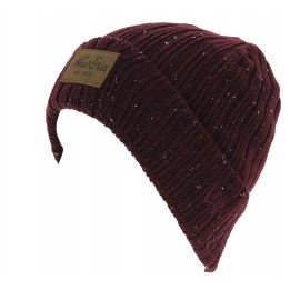 Mixed Flecked Suede Cuff Beanie Bordeaux - New Era