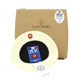 Official white beret XV de France Coq brodé - Laulhère