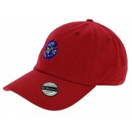 Red Cotton Straback Nasa Nasa Cap