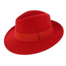 Chapeau Fédora Feutre Laine Vanador Rouge - Traclet