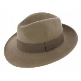 Fedora Hats Wool Felt Vanador Beige- Traclet