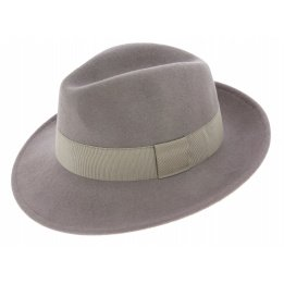 Fedora Hats Wool Felt Grey- Traclet