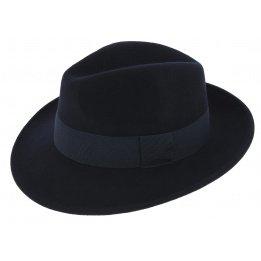 Fedora Hats Wool Felt Vanador Navy Blue- Traclet