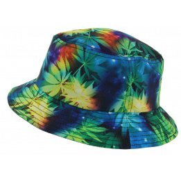 Bucket Hat Leaf Galaxy Polyester