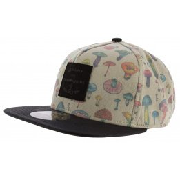 Casquette Strapback Mushroom Illustrated Beige