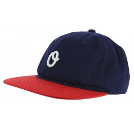 Blue / Red Cotton Miles Strapback Cap