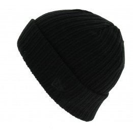 Bonnet Mixte Ribbed Cuff Acrylique Noir- New Era