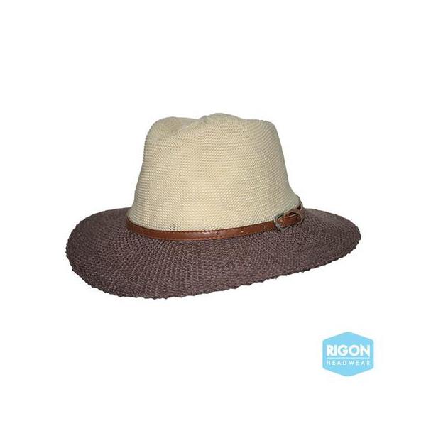 Traveller Paris Manish Hat Beige & Brown Style - Rigon Headwear