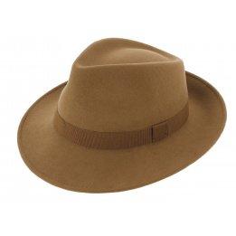 Fedora Hats Wool Felt Camel- Traclet