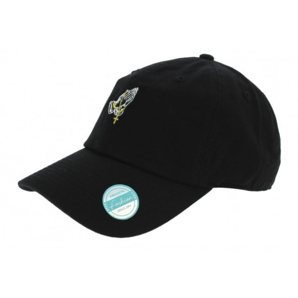 Baseball cap Strapback Pray Cotton Black