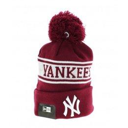 Bonnet à Pompon Jake NY Yankees Bordeaux- New Era