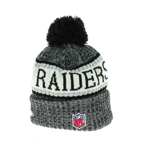 Bonnet à Pompon Oakland Raiders NFL- New Era