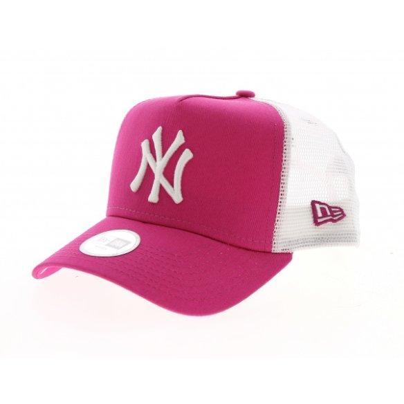 Casquette New York Yankees Essential Trucker Rose/Blanc- New Era