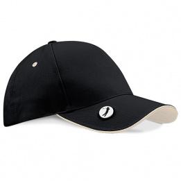 Casquette Golf Pro-Style Noir & Blanc Coton - Beechfield